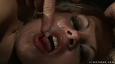 He pounds her ass doggy style and then cums all over her face