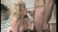 Horny Kitty Foxx reveals her blowjob skills before getting fucked hard