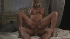 Bimbo with gorgeous feet gets her ass pounded down to the balls